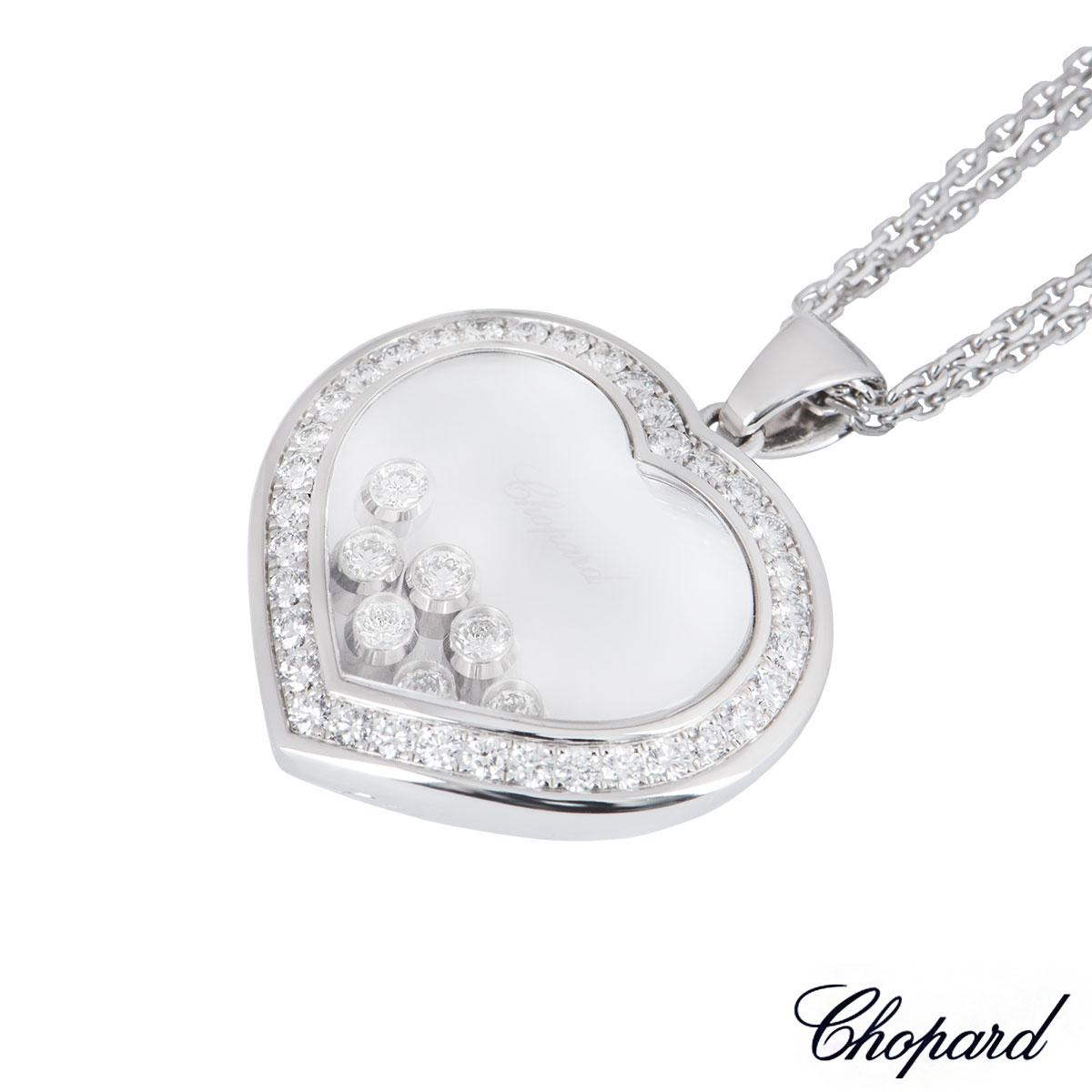 Chopard White Gold Happy Diamonds Necklace 79/9202-1003
